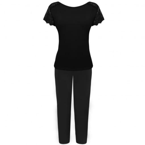 Pijama capri em liganete e renda - Coleção Sleepwear