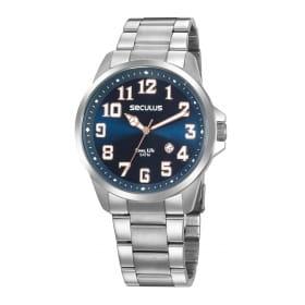 Relógio Seculus Masculino Prata