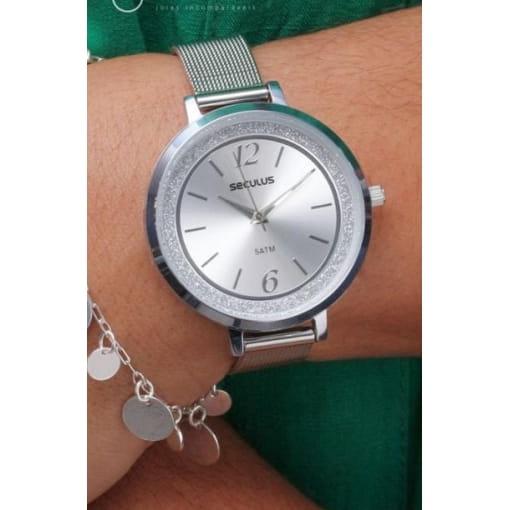Relógio prata Seculus