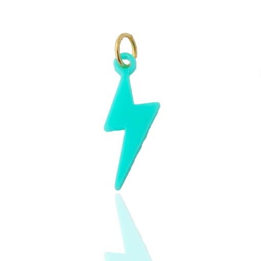 Pingente infantil raio azul - Coleção Helo
