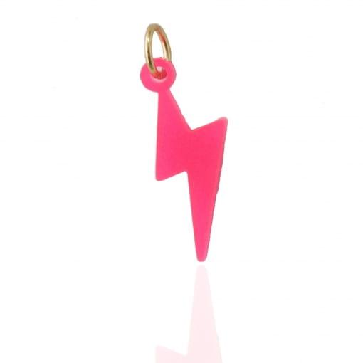 Pingente infantil raio pink - Coleção Helo