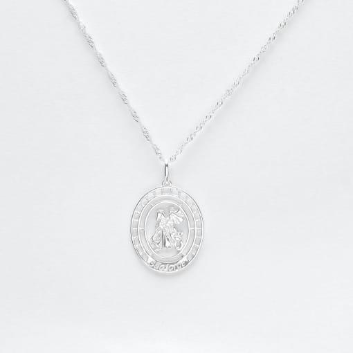 Pingente prata medalha São Jorge