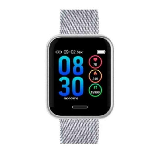 Relógio Mondaine smartwatch prata