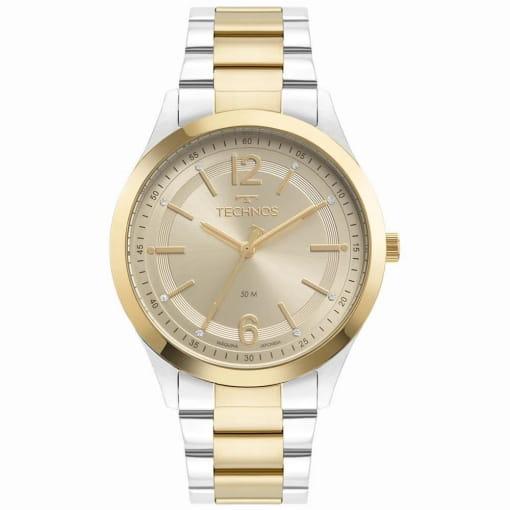 Relógio technos feminino dourado e prata