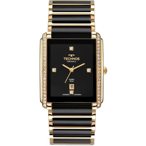 Relógio technos feminino dourado e preto
