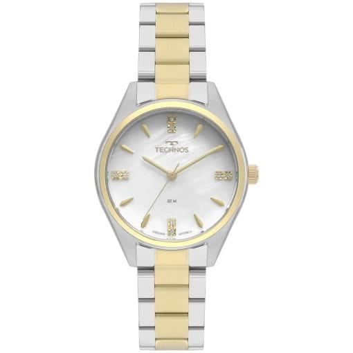Relógio technos feminino prata e dourado