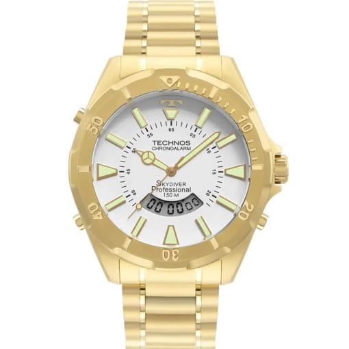 Relógio technos masculino dourado