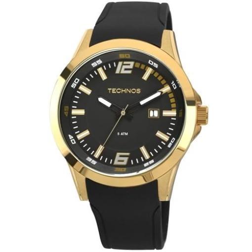 Relógio technos masculino preto e dourado