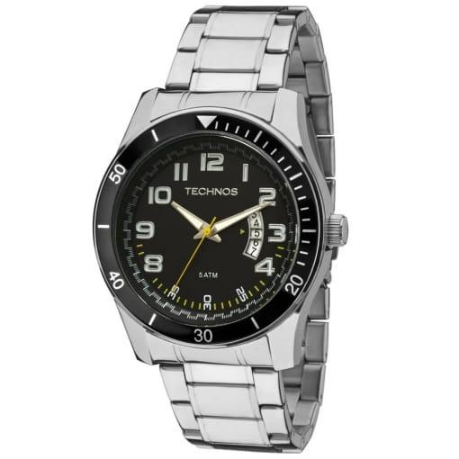Relógio technos masculino prata