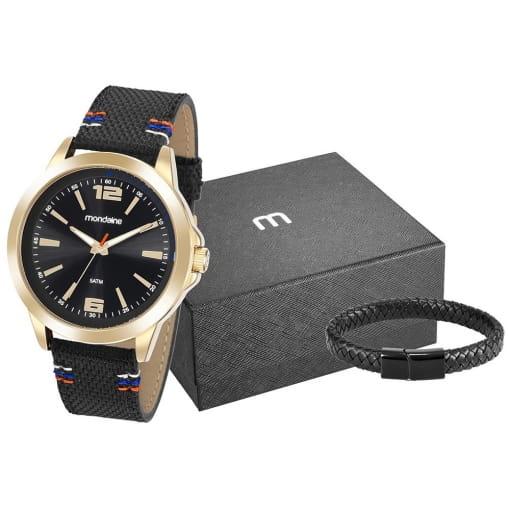 Kit Relógio Masculino Analógico Mondaine