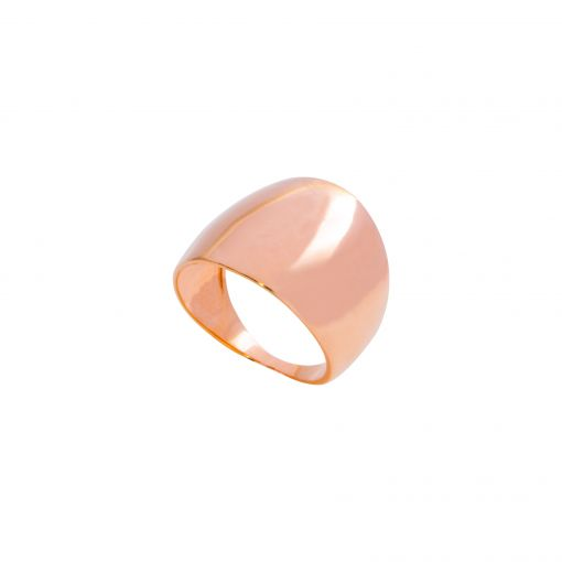 anel oval prata rose