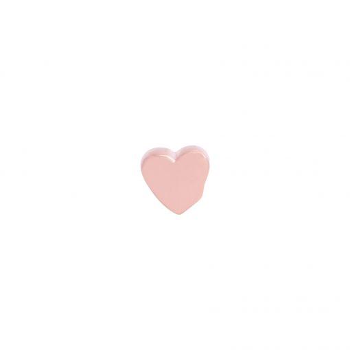 pingente coração rose liso
