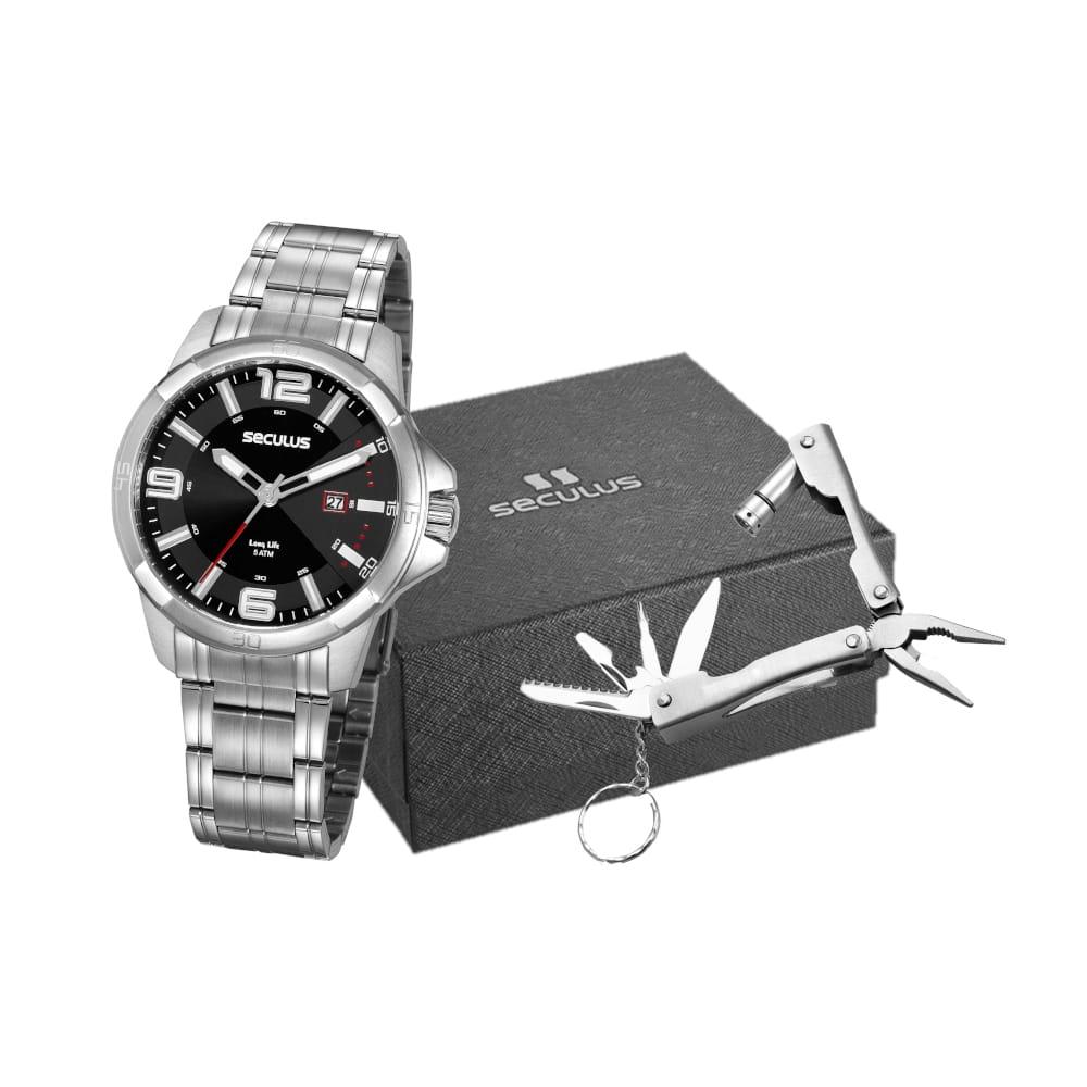 Kit relógio Seculus Masculino
