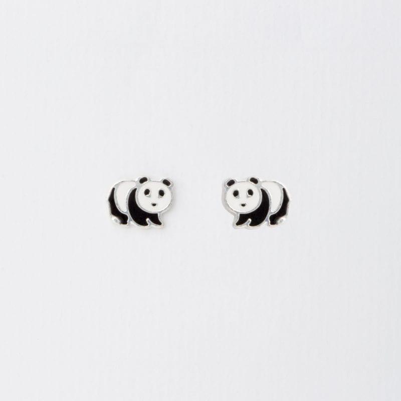 BRINCO PRATA INFANTIL DE PANDA