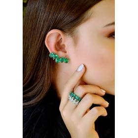 Brinco Ear Cuff Cristais Colors