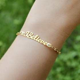 PULSEIRA COM ELOS CARTIE - I BELIEVE