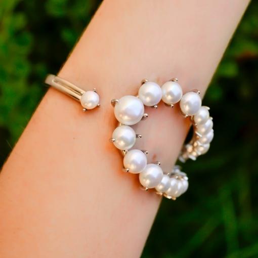 Bracelete de Pérolas Naturais Regulável