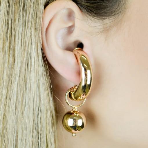 BRINCO EAR HOOK COM ESFERAS