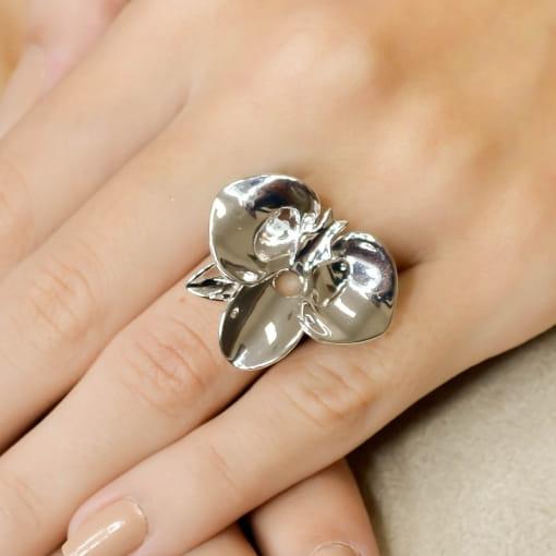 Anel Floral Metal