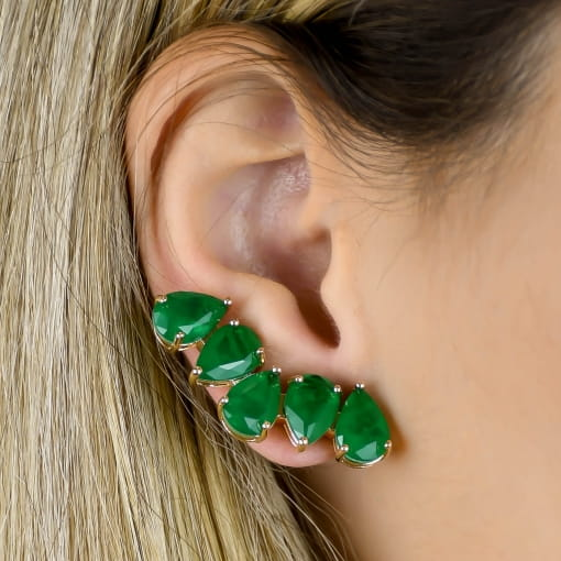 Brinco Ear Cuff Pedra Fusion