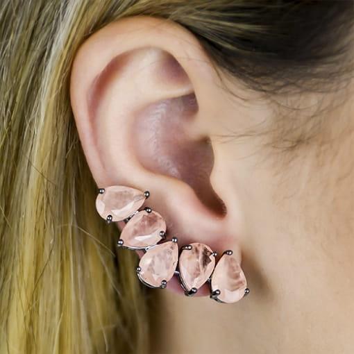 BRINCO EAR CUFF COM MORGANITAS