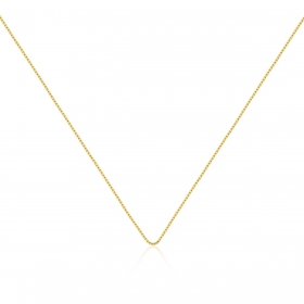 Corrente Veneziana 45cm Folheada a Ouro