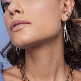 Piercing de Orelha Ear Hook Unitário e Liso Folheado a Ródio