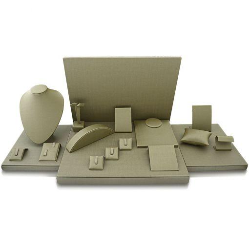 Kit de Expositores para Joias Chumbo com 18 peças