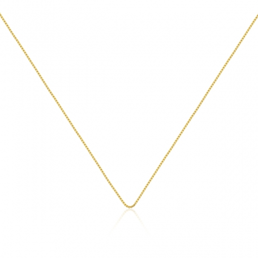 Corrente Veneziana 50cm + 5cm de Extensor Banhada a Ouro