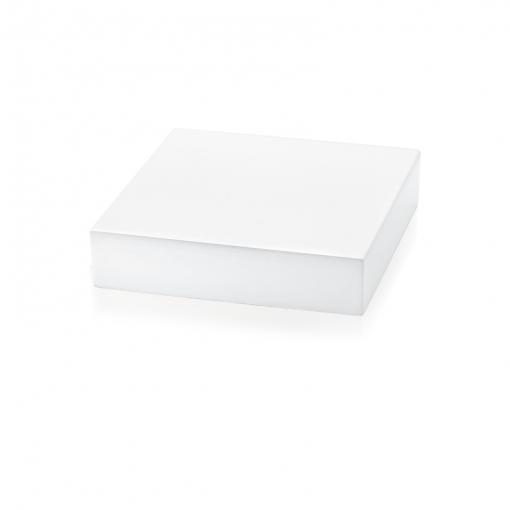 Expositor Quadrado Para Pulseira P em Madeira Laqueada Branca