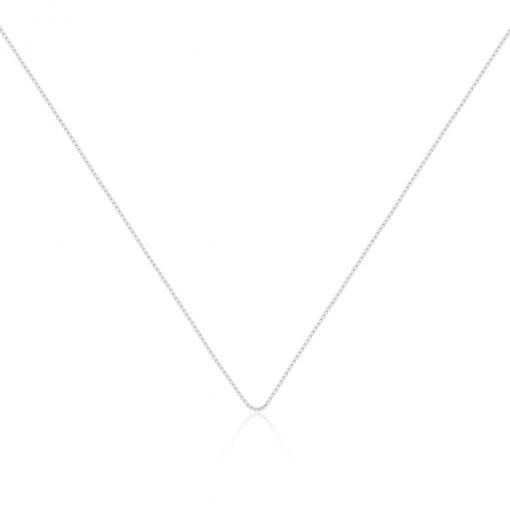 Corrente Malha Veneziana 45cm em Prata Lisa
