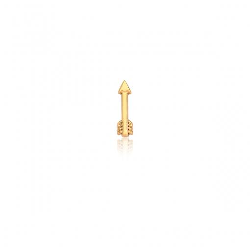 Pingente Esteira de Flecha Lisa em Aço Dourado