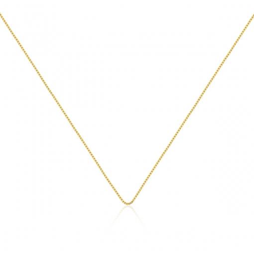 Corrente Veneziana 60cm Lisa Folheada a Ouro