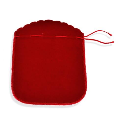 Saquinho de Veludo Vermelho Grande Pacote com 25 Unidades