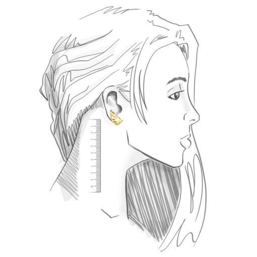 Brinco Ear Cuff de Asa Liso Banhado a Ouro