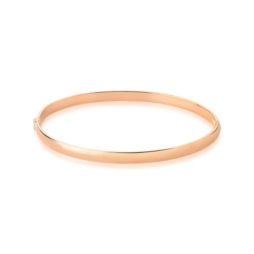 Bracelete Algema com Aro Liso Banhado a Ouro Rosê