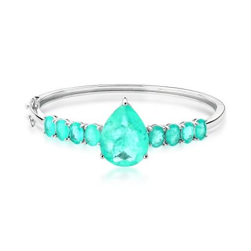 Bracelete com Cristal em Gota Fusion Turmalina Banhado a Ródio