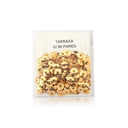 Kit 50 Pares de Tarraxas Borboletas Banhado a Ouro