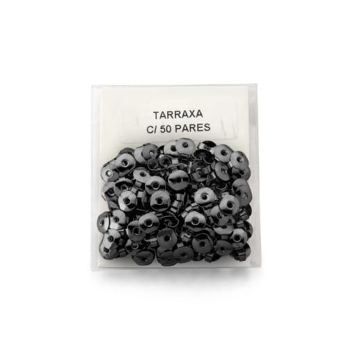 Kit 50 Pares de Tarraxas Borboletas Banhado a Ródio Negro