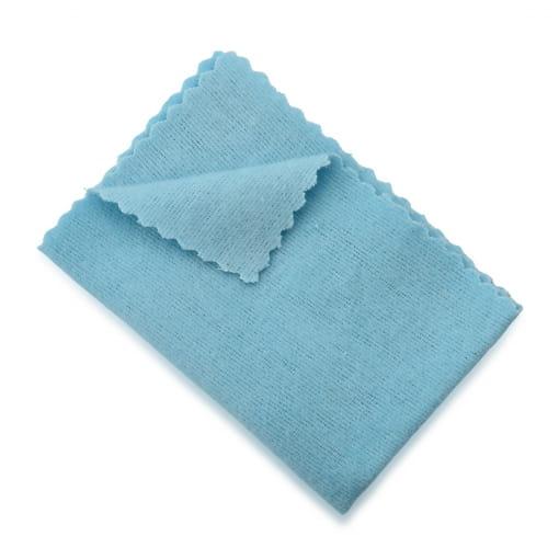 Flanela Mágica Cor Azul Brilho e Limpeza Para Suas Joias