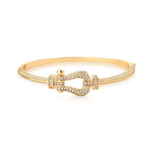 Bracelete Cinto com Zircônias Brancas Banhado a Ouro