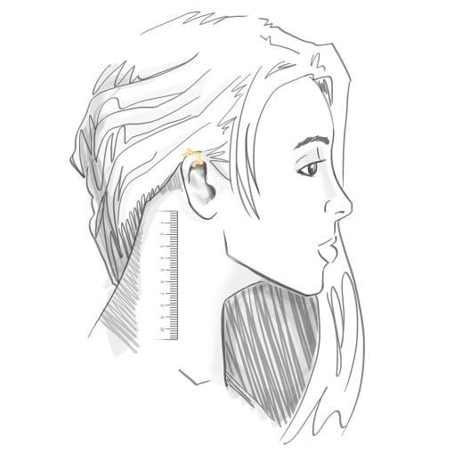 Piercing de Orelha de Estrela Lisa Banhado a Ouro