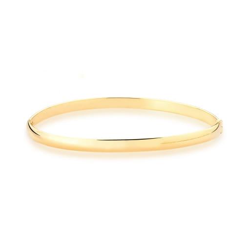 Bracelete Algema Liso Banhado a Ouro