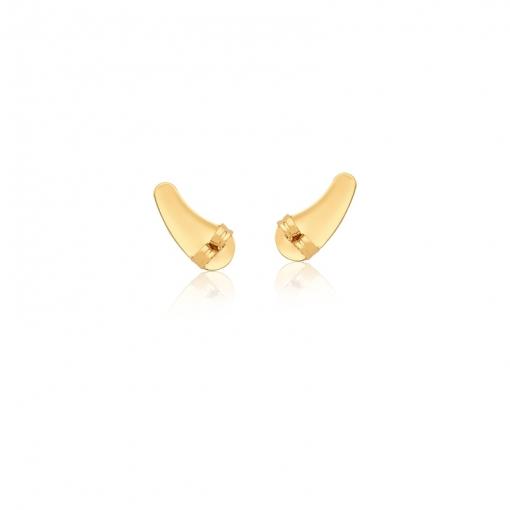Kit Tarraxa Para Ear Cuff com Dez Pares Folheado a Ouro