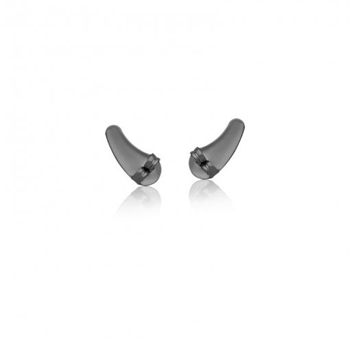Kit Tarraxa Para Ear Cuff com Dez Pares Folheado a Ródio Negro