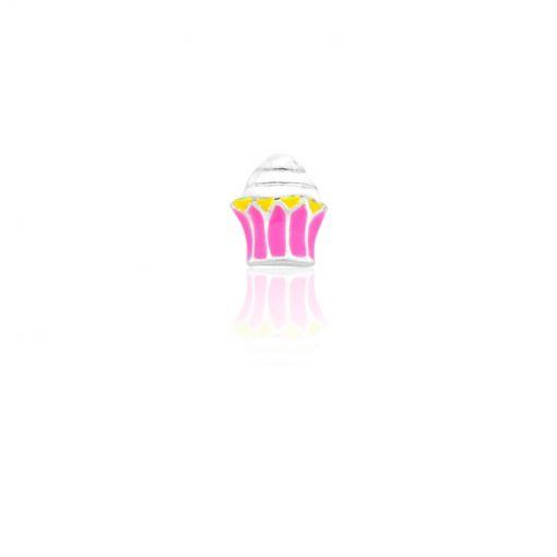 Pingente Folheado Cápsula Conquistas Cupcake