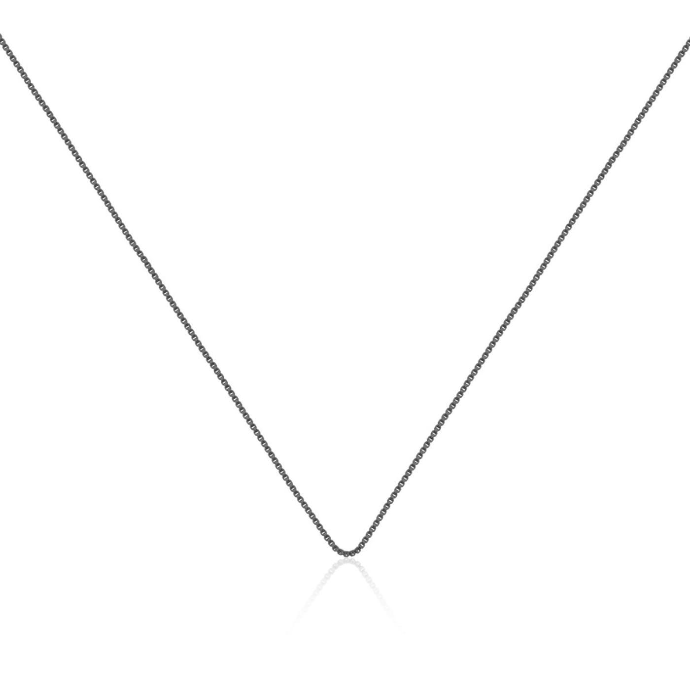 Corrente Veneziana 50cm Folheada a Ródio Negro
