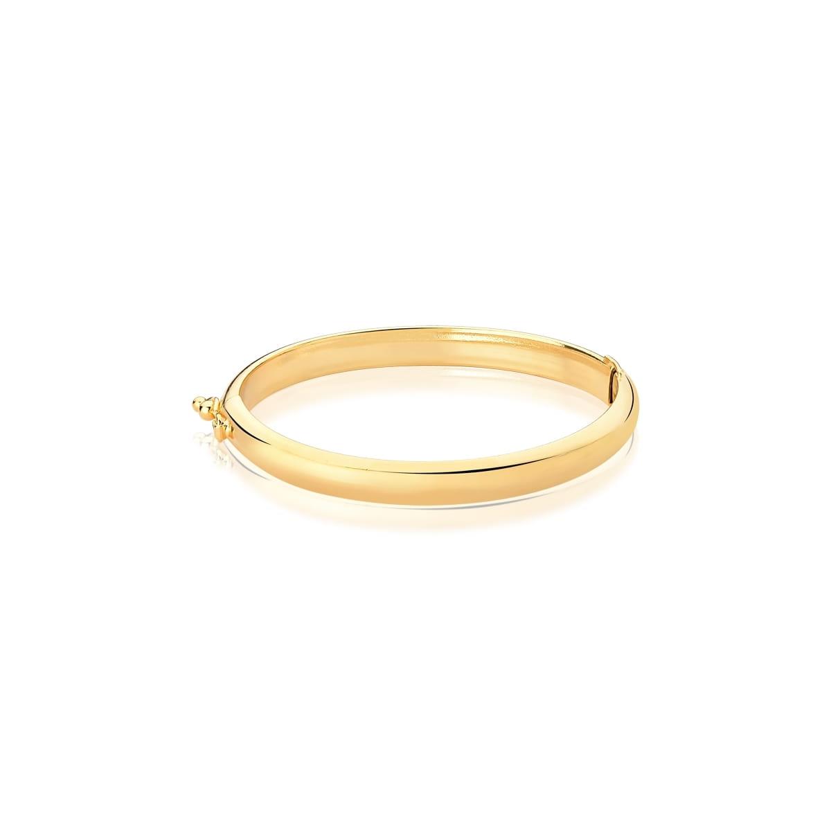 Bracelete Kids de Algema Liso Folheado a Ouro