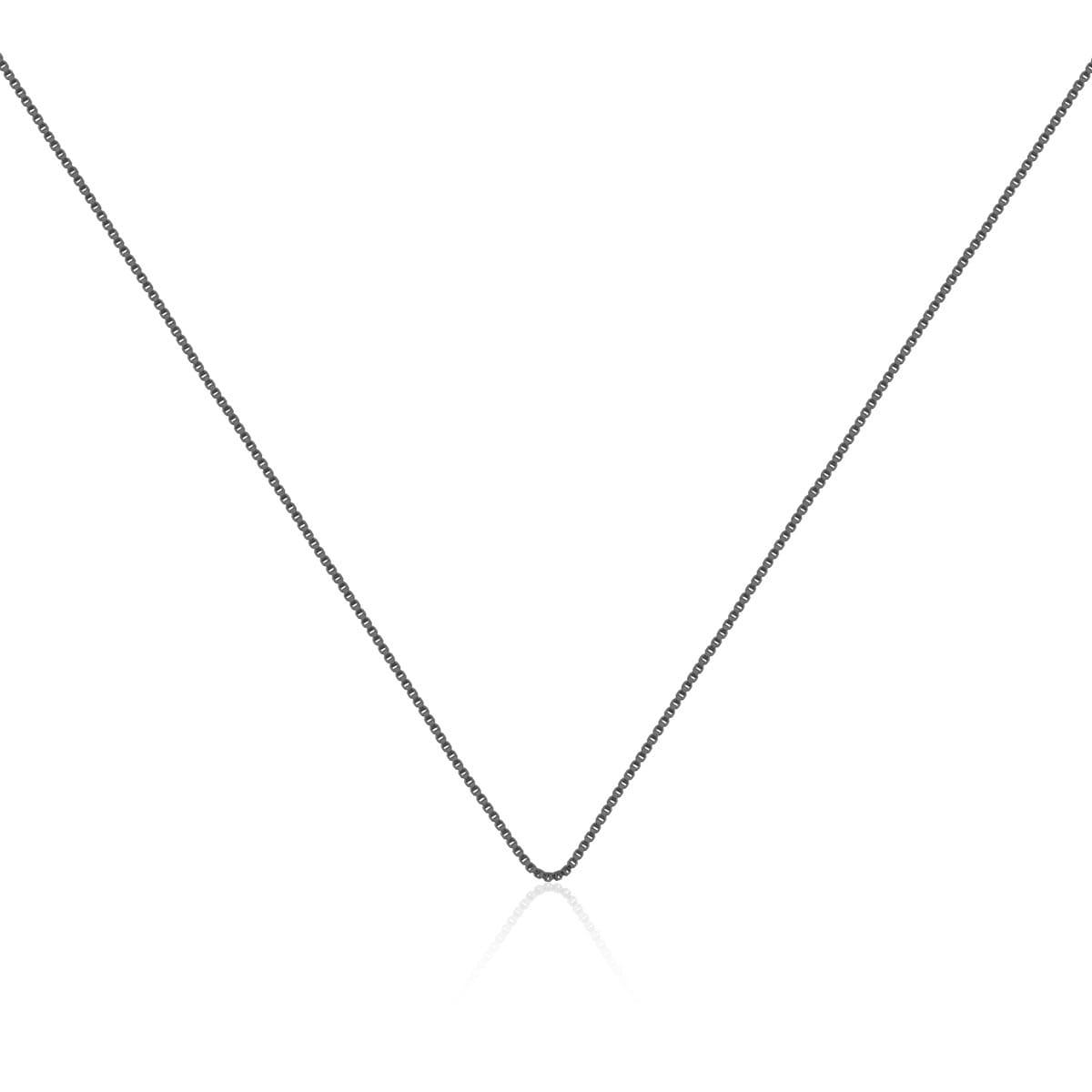 Corrente Veneziana 60cm Folheada a Ródio Negro